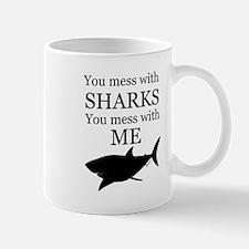 Don't Mess with Sharks Mug