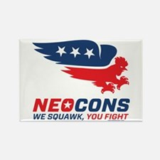 Neocon Chickenhawk Logo Rectangle Magnet