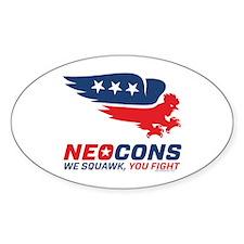 Neocon Chickenhawk Logo Decal