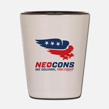 Neocon Chickenhawk Logo Shot Glass