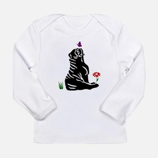Bulldogs -n- Butterflys Long Sleeve Infant T-Shirt
