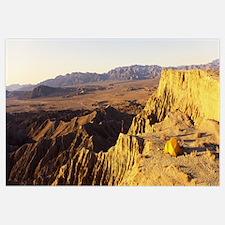 Person camping on a cliff, Anza Borrego Desert Sta