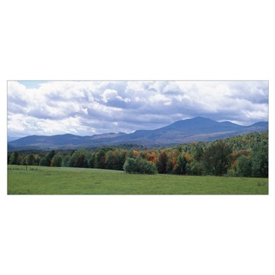 Clouds over a grassland, Mt Mansfield, Vermont Framed Print