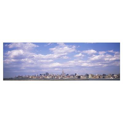 Clouds over a city, Midtown Manhattan, Manhattan, Poster
