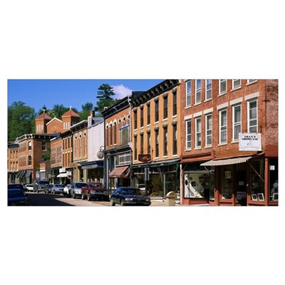 Market along the street, Main Street, Galena, Jo D Canvas Art
