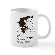 Greece Grease on my Shirt Small Mug