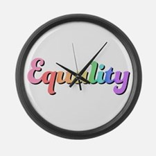 Rainbow Equality Large Wall Clock