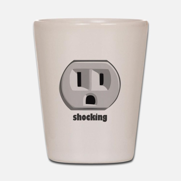 Shocking Wall Outlet Shot Glass