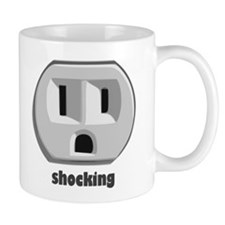 Shocking Wall Outlet Small Mug