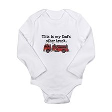 Cute Fire truck kids and Long Sleeve Infant Bodysuit