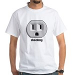 Shocking Wall Outlet White T-Shirt