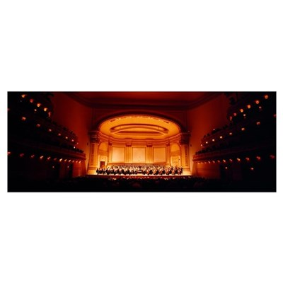 Performers on a stage, Carnegie Hall, New York Cit Poster
