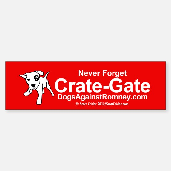 Dogs Against Romney bumber-crate-gate Bumper Stick