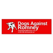 Dogs Against Romney Bumper Car Sticker