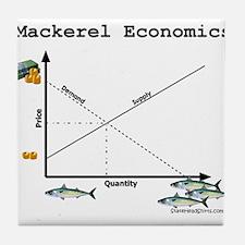 Mackerel Economics Tile Coaster