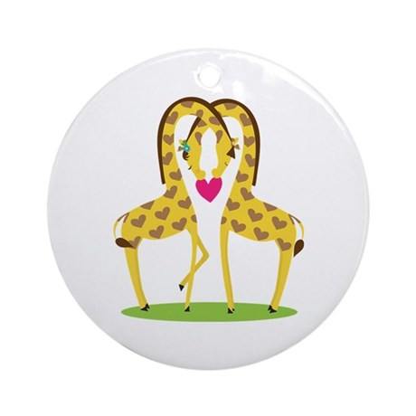 Giraffe Love Ornament (Round)