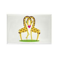 Giraffe Love Rectangle Magnet (100 pack)