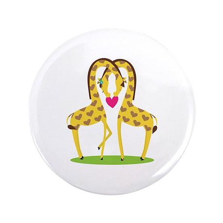 """Giraffe Love 3.5"""" Button (100 pack)"""