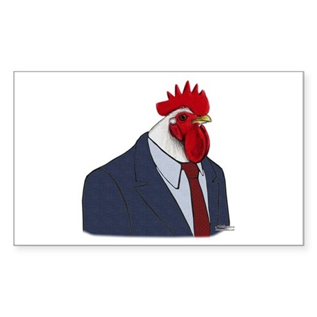 Boss Rooster Sticker (Rectangle)