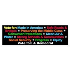 Vote for a Democrat Bumper Bumper Sticker