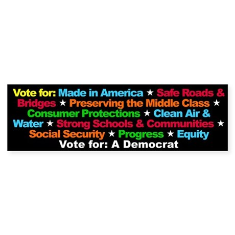 Vote for a Democrat Bumper Sticker