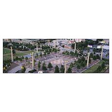 Park, Centennial Olympic Park, Atlanta, Georgia Poster
