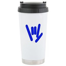 ASL Rocks Bright Blue Travel Mug