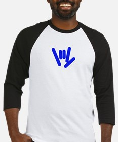 ASL Rocks Bright Blue Baseball Jersey
