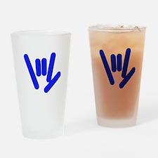 ASL Rocks Bright Blue Drinking Glass