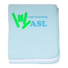 Learning ASL baby blanket