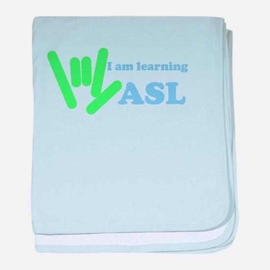 Learning ASL baby blanket