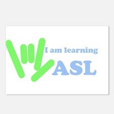 Learning ASL Postcards (Package of 8)
