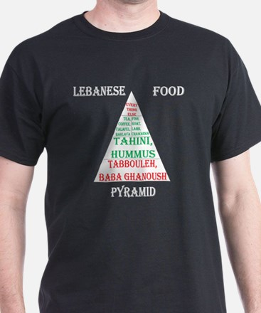 Lebanese Food Pyramid T-Shirt