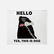 Hello Dog Telephone Phone Throw Blanket