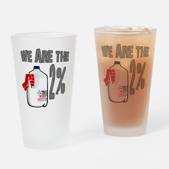 Occupy - We are the 2 % Milk Drinking Glass