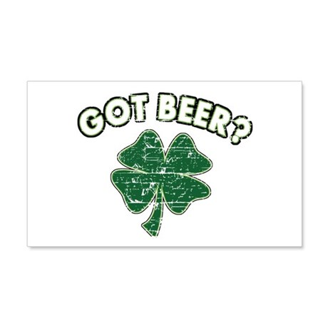 Funny Irish drinking design 22x14 Wall Peel