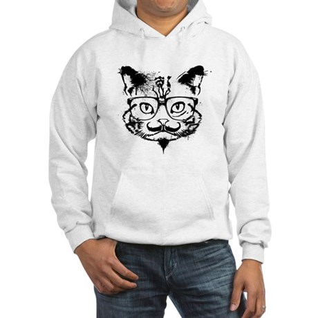 Hipster Cat Hooded Sweatshirt
