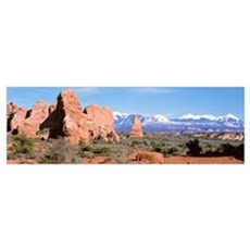 Arches National Park and La Sal Mts Moab UT Poster