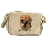 Golden retriever Messenger Bags & Laptop Bags