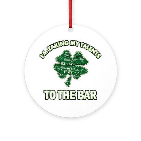 Funny Irish drinking design Ornament (Round)