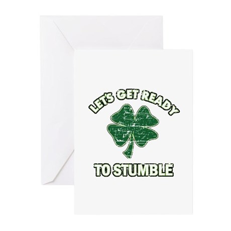 Funny Irish drinking design Greeting Cards (Pk of