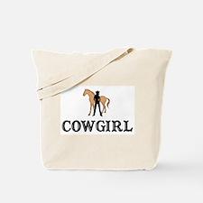 Cowgirl & Horse Tote Bag