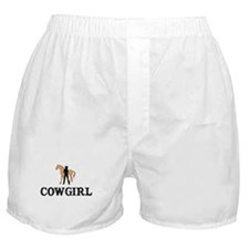 Cowgirl & Horse Boxer Shorts