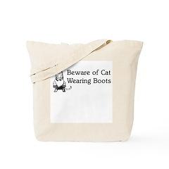 WH Robinson's Beware Cat Tote Bag