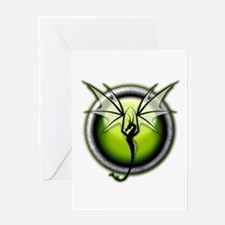 Green Earth Dragon Greeting Card