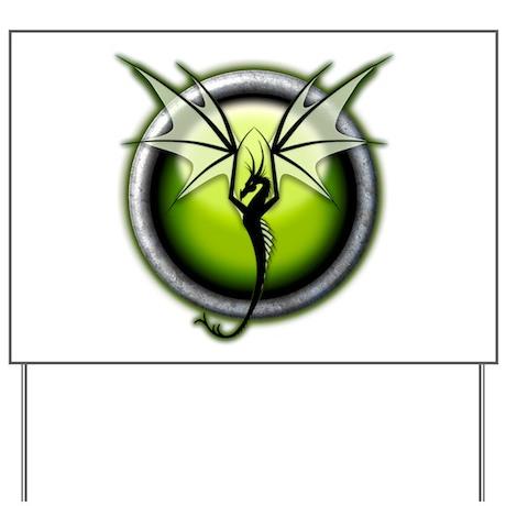 Green Earth Dragon Yard Sign