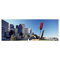 California, San Francisco, Claes Oldenburg sculptu Poster