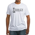 WH Robinson's Beware Cat Fitted T-Shirt