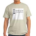 WH Robinson's Beware Cat Ash Grey T-Shirt