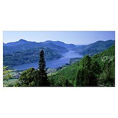 Lake Lugano Canton Ticino Switzerland Poster